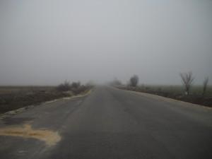 Ceaţă pe drum