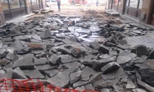 Pasajul Vulturul Negru cu asfalt scos (2)