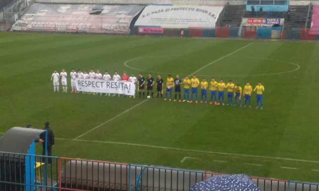 FC Bihor banner Respect Resita