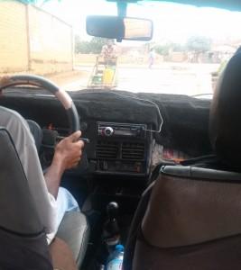 blana pe bord taxi Antananarivo Madagascar