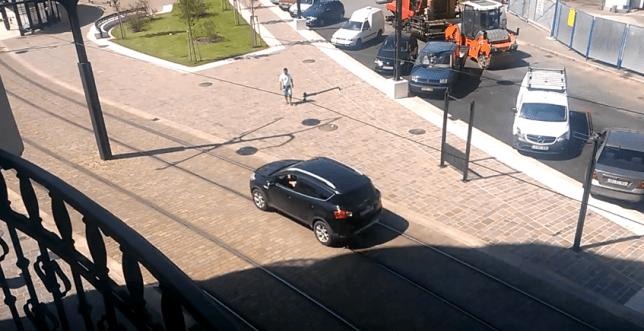 masina tramvai linii Piata Unirii